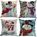 XIECCX Throw Pillow Covers Decorative Pillowcases Christmas Easter Day Valentine's Day Thanksgiving Theme 4 Pack-Soft Linen Cotton Design Cushion Cover Sofa,Bedroom,Porch,Garden,Farmhouse 18 x 18