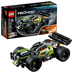 Kids can experience the amazing power and acceleration of this high-speed LEGO Technic 42072 WHACK! model car. This crash car features a lime-green, red and gray color scheme with racing stickers, sturdy front bumper, large rear spoiler and w...