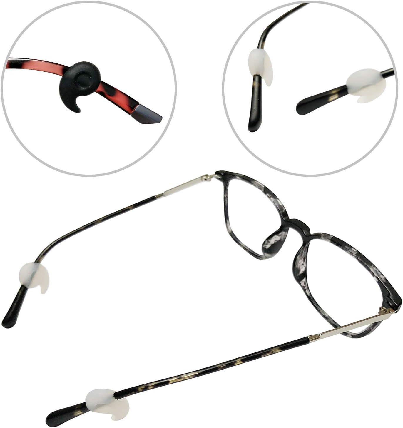 Benvo retenedores de anteojos de silicona gafas tapones para los o/ídos gafas gafas protectores antideslizantes para gafas gafas