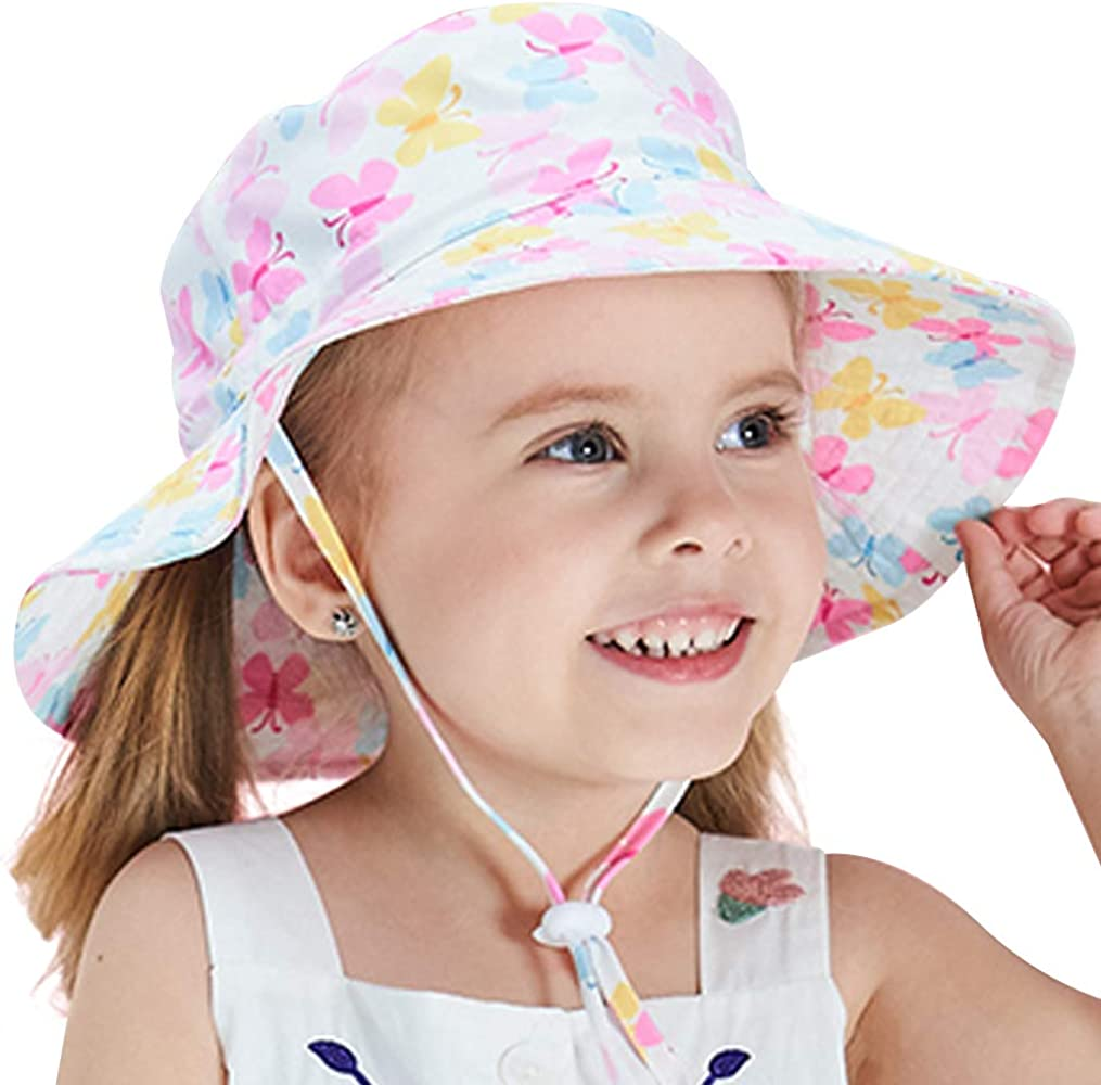 Sun Hat Breathable Summer Play Hat Sun Bucket Hats for Kids Boys Girls UV UPF 50