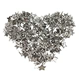 300PCS Craft Star Shaped Metal Brads Nails for DIY Paper Scrapbooking Embellishment, Silver by CSPRING