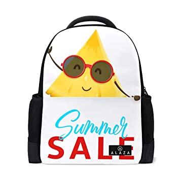 Amazon com | Fashion Student Backpack Cute A Pineapple Lump Yellow