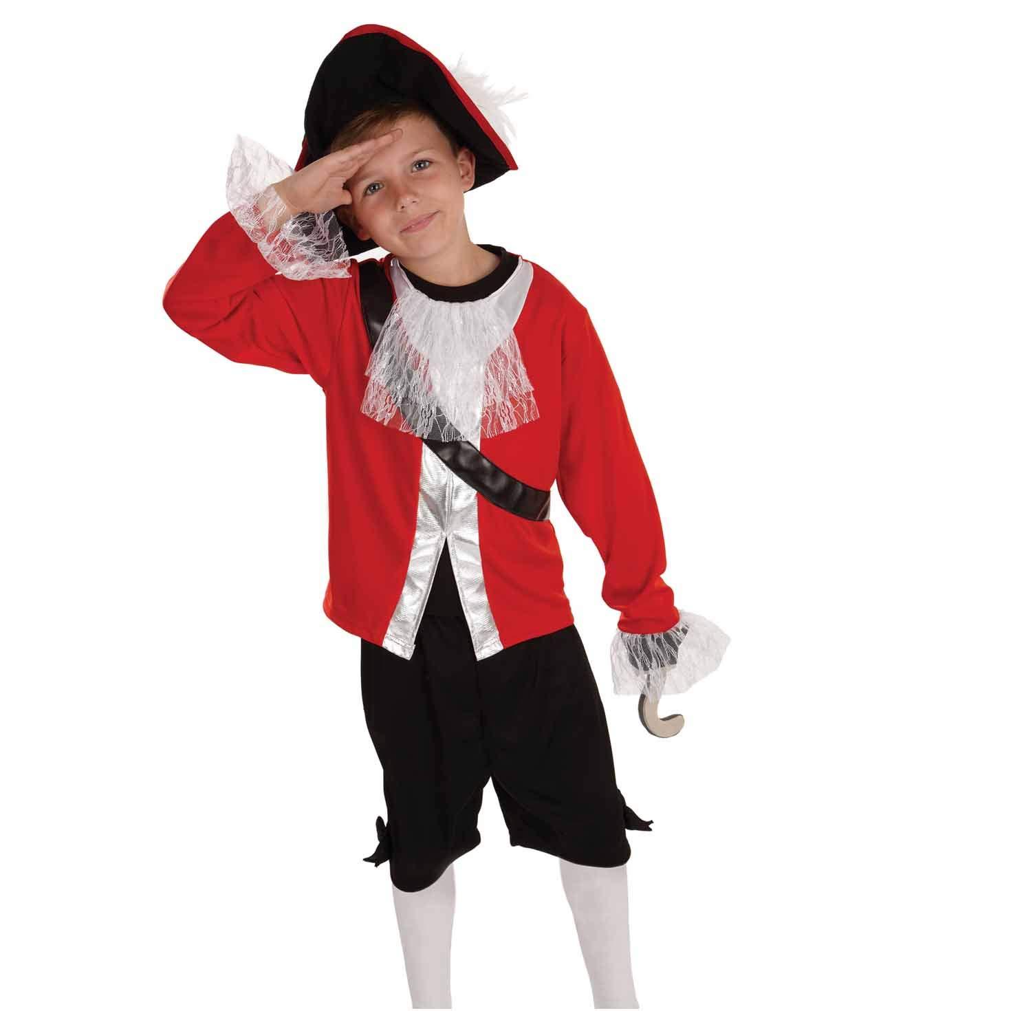 Fun Shack Rojo Capitán Pirata Disfraz para Niños - L: Amazon.es ...