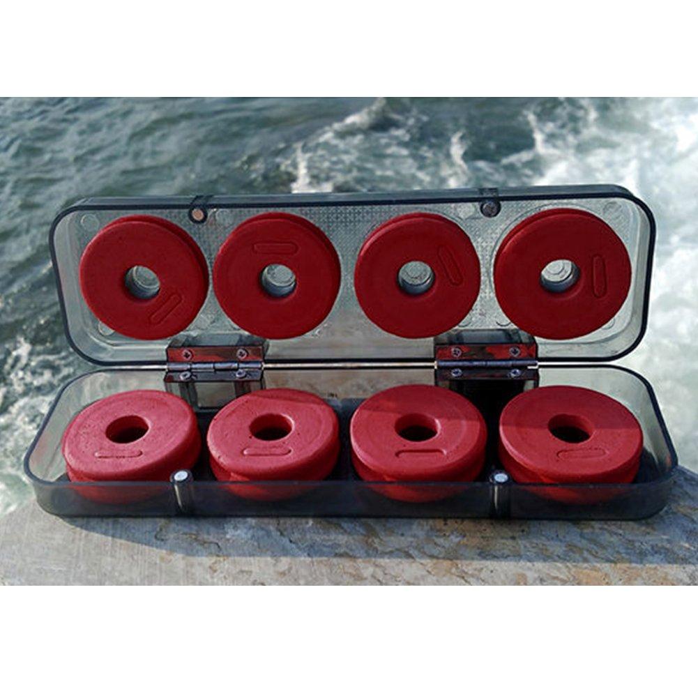 GeKLok 8//16Pcs Fishing Winding Board Foam Fishing Line Wire Bobbin Spools Tackle with Storage Case