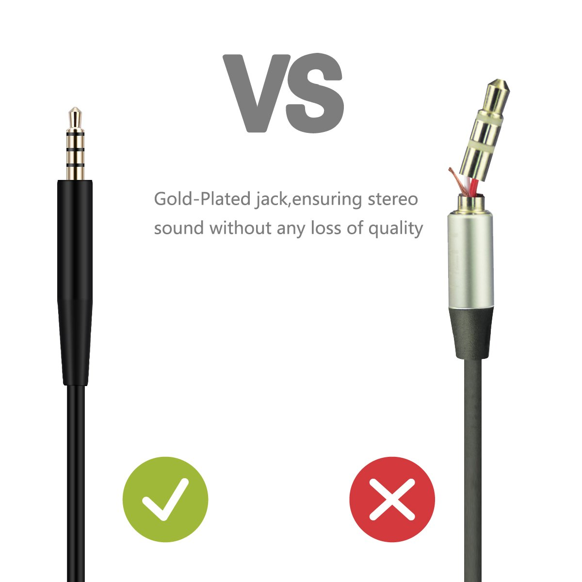 Speakers // 3.5mm Male to Female Replacement Stereo Audio Cable Earphone Headphones Extension Cable Cord Line Compatible with Bose On-Ear Headphones 20FT