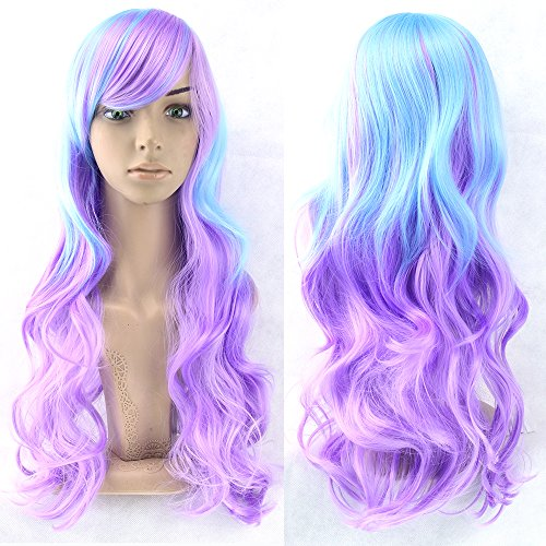 VIVIKZ 13 Colors Brown To Pink Women Hair High Temperature Fiber Wigs Synthetic Hair Cosplay Wig Perruque Cheveux -