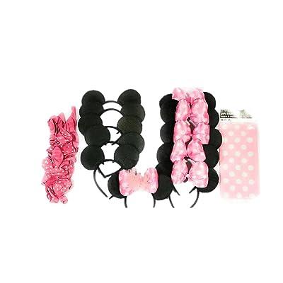1 X Lot of 12 Mickey Mouse Ears Solid Black Headband Minnie Birthday