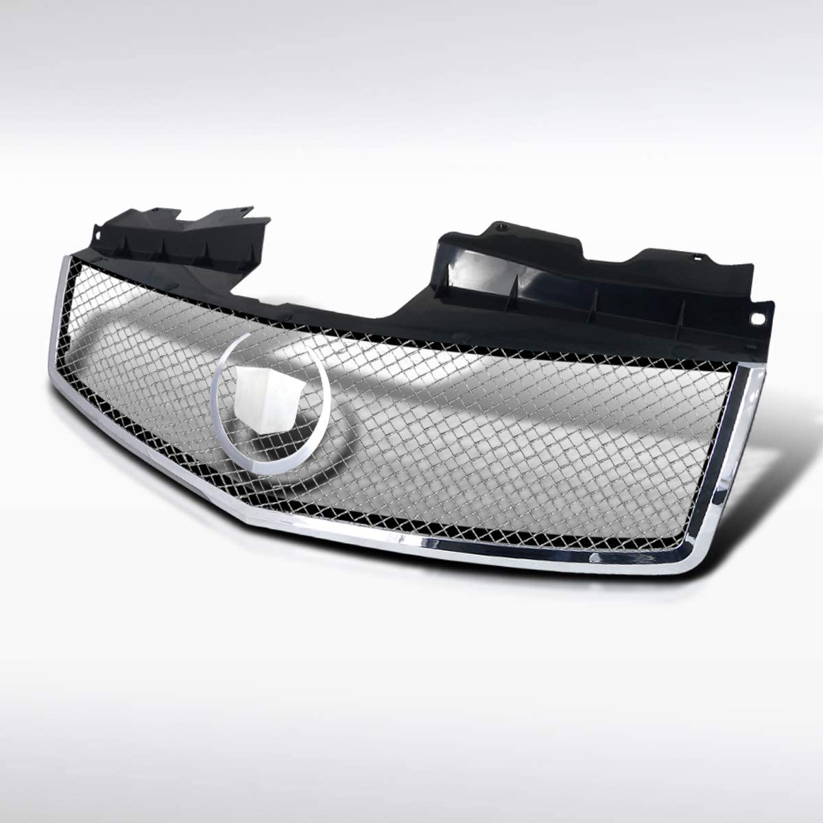 Autozensation For Cadillac CTS V Style Chrome Hood ABS Front Upper Mesh Grille Truck