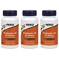 Now Foods Probiotic-10 25 Billion, 100 Count (Pack of 3)