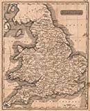 School Atlas | 1822 England and Wales | Historic Antique Vintage Map Reprint