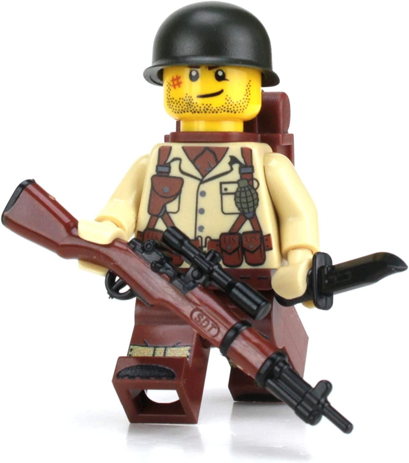 Brickarms overmolded Kar98 German rifle weapon for WWII minifigures minifigs