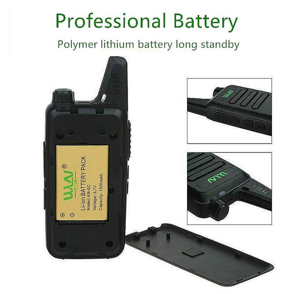 Xixou 1pc Wireless Portable Device WLN KD-C1 Small walkie-Talkie UHF400-470 MHz Communication walkie-Talkie Handheld CB HF Amateur Radio transceiver (1pc) by Xixou (Image #8)