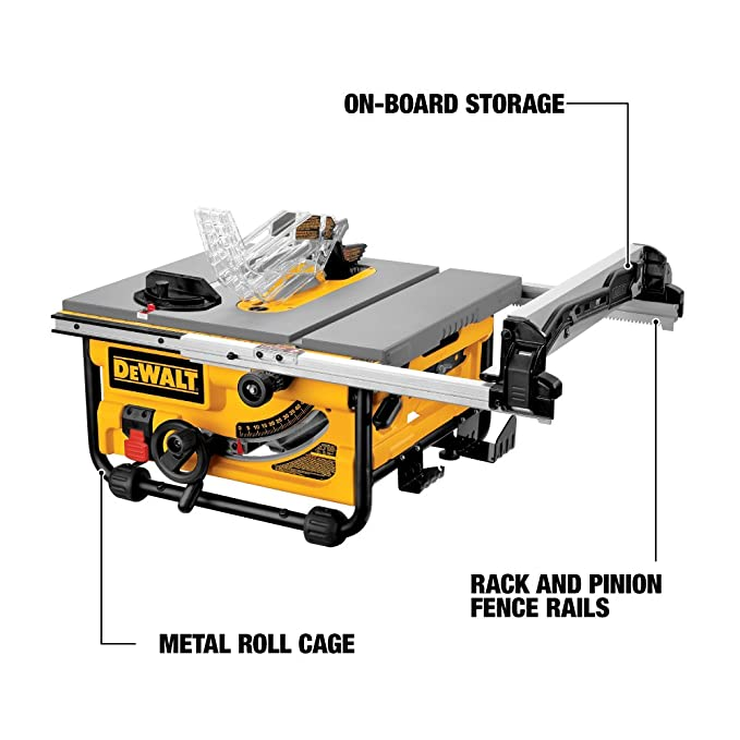 Dewalt dw745 10 inch compact job site table saw with 20 inch max rip dewalt dw745 10 inch compact job site table saw with 20 inch max rip capacity 120v power table saws amazon greentooth Image collections