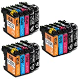 Voshy 15 Pack Compatible Brother LC203XL LC203 Ink Cartridges, High Yield, Work with Brother MFC J460DW J480DW J880DW J680DW J4420DW J4620DW J4320DW J5520DW J5720DW J485DW J885DW J5620DW Printer