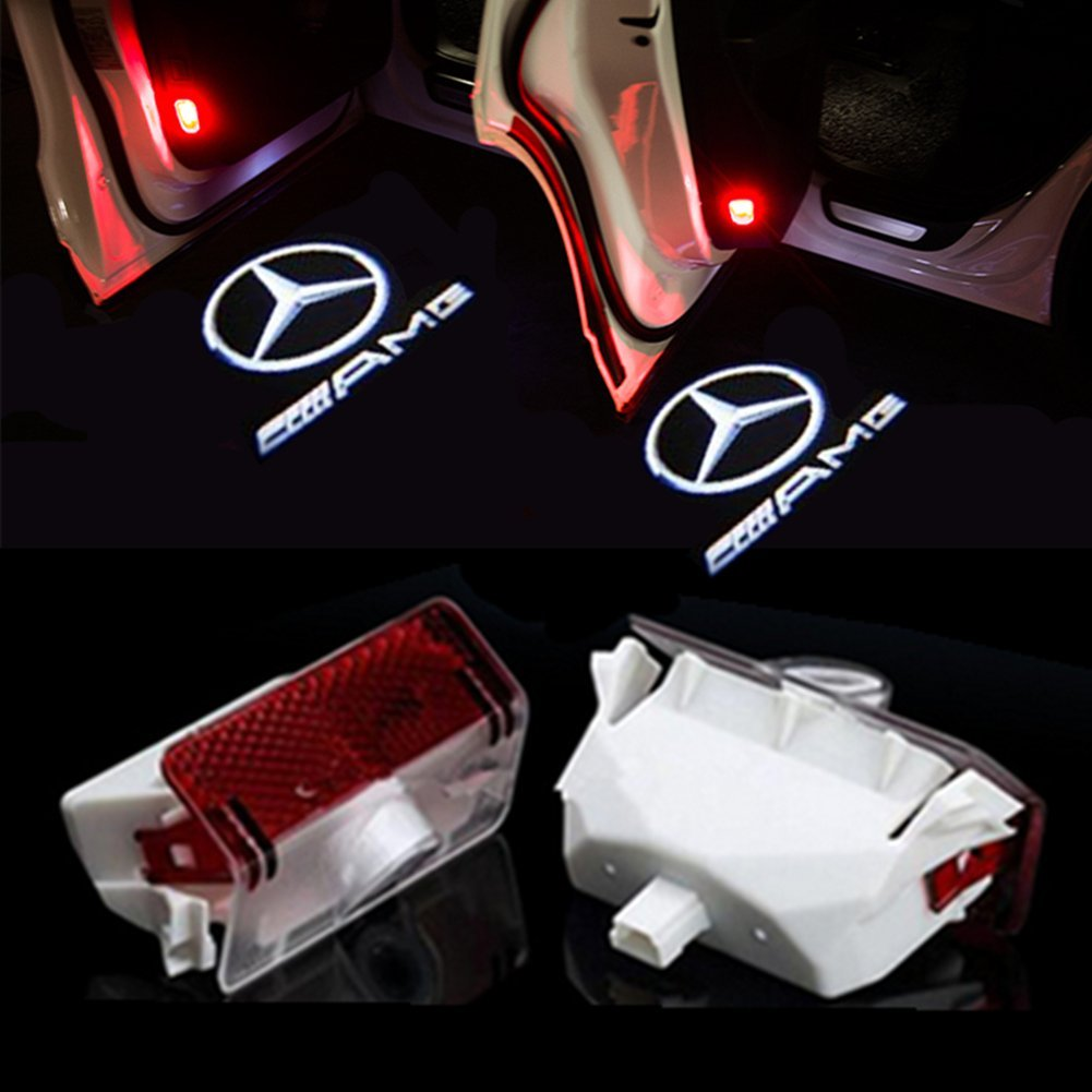 R-AMG HUAYIN Auto portiera Logo luce LED Proiettori Sottoporta Luce Del Portello di Automobile
