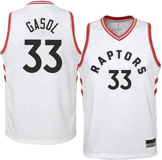 K&A Camiseta Niño Marc Gasol Toronto Raptors Blanco, Camiseta Niño Marc Gasol Association Edición Swingman (Blanco, S): Amazon.es: Deportes y aire libre