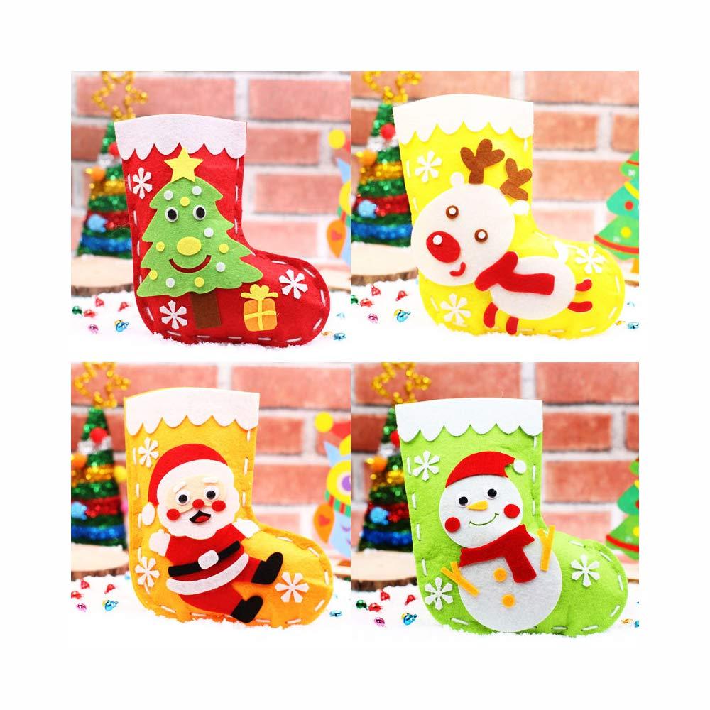 qiaoniuniu 縫製キット 子供用 DIYアートクラフト ハンドステッチ プレイセット 安全ニードルねじ付き 無害フェルト 初心者向け 子供 女の子 男の子 クリスマスのギフトに最適 B07FXWK861 6