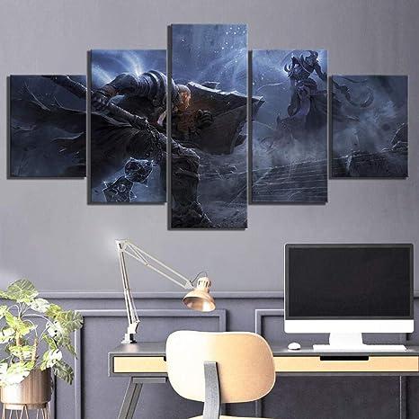 Zumooy Bilder Leinwand Wandkunstwerk Diablo 3 Videospiel