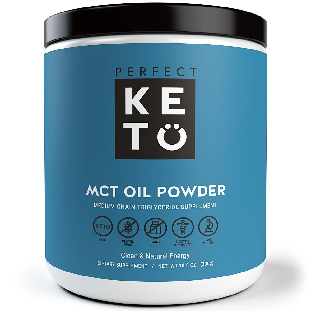 Perfect Keto MCT Oil C8 Powder, Coconut Medium Chain Triglycerides for Pure Clean Energy, Ketogenic Non Dairy Coffee Creamer, Bulk Supplement, Helps Boost Ketones, Unflavored