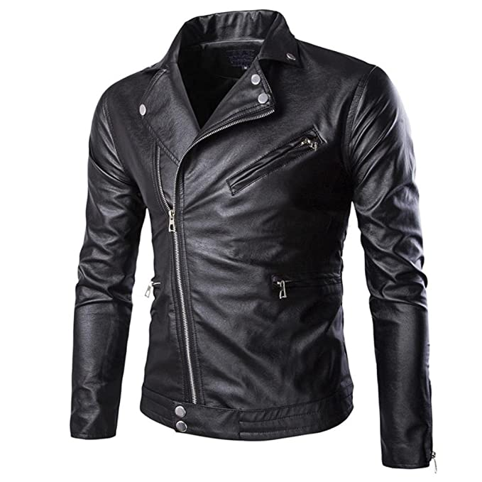 Amazon.com: hZcx moda Hombre con cierre lateral Slim ...