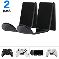 Rimposky Game Controller Wall Mount Stand Holder (2 Pack) for XBOX ONE SWITCH PS4 STEAM PC NINTENDO, Universal Gamepad Accessories - No screws, Stick on