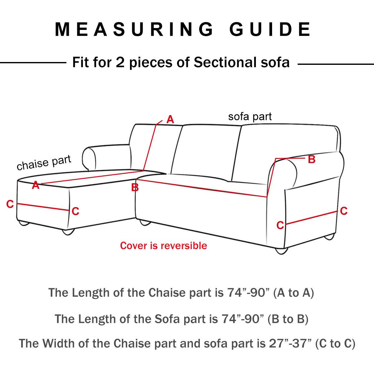 Amazon.com: WOMACO - Fundas de sofá en forma de L, 2 ...