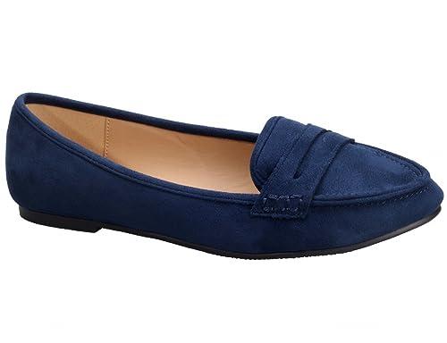 Greatonu Mocasines Falso Suede Talón Cerrado Diseña Cómoda sin Hebillas Punta Redonda Plana para Mujer 36-41 EU: Amazon.es: Zapatos y complementos