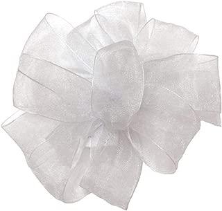 "product image for Offray Berwick LLC 424131 Berwick Simply Sheer Asiana Ribbon - 5/8"" W X 25 yd - White Ribbon"