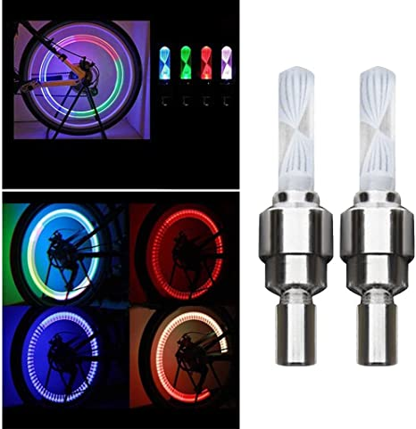 2×Night Light 7Color Bike Decoration LED Light Bicycle Accessories Tire Lamp