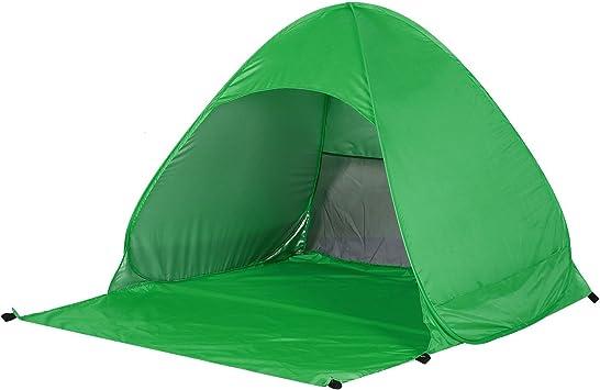 OUTAD Tienda Instantánea de Campaña con Protección Solar UV 50 Ligera para Playa Camping Acampada (Verde): Amazon.es: Deportes y aire libre