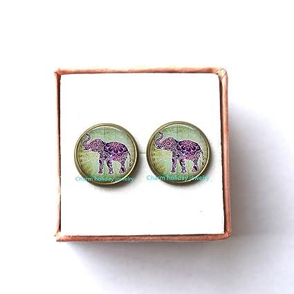 Amazon Elephant Earrings Charm