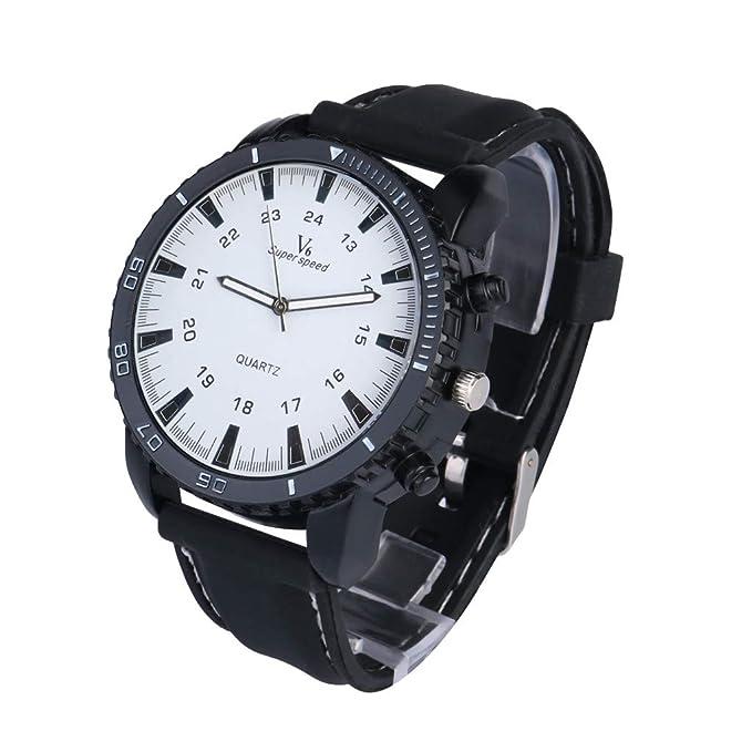 Coconano Bering Reloj Hombre, Lujo deporte Al Aire Libre v6 Reloj Militar Relojes de Pulsera de Cuarzo de Silicona: Amazon.es: Ropa y accesorios