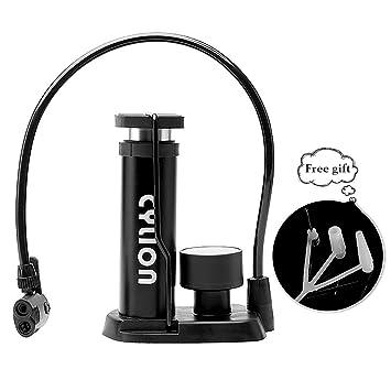 bicycle floor pump mini bike pumpwith gauge smart valve head universal  portable: amazon ca: sports & outdoors