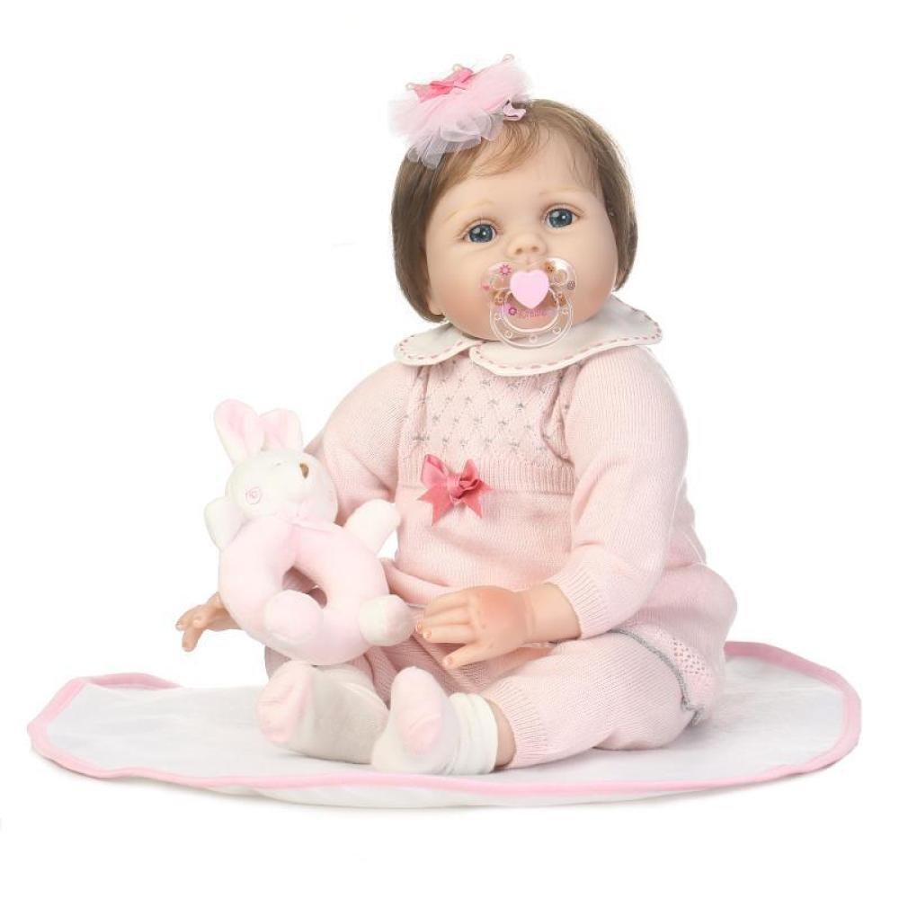 Nicery Reborn Baby Dolls 17.5 Pulgadas 45 Cm Vinilo De Silicona Suave Reborn Toddler Realistic Real Lifelike Newborn Dolls Baby Girl Juguete De Regalo De Navidad