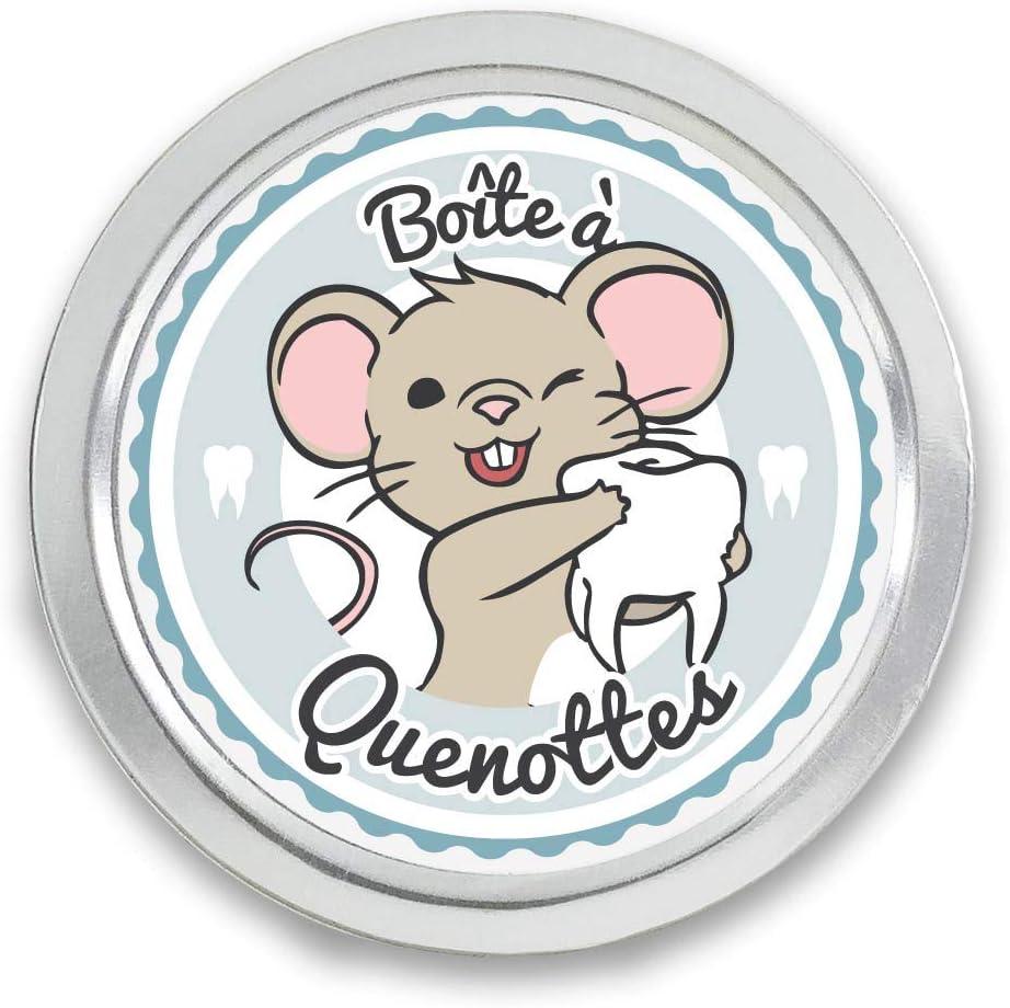 Cadeau pour enregistrer Boite /à dents Petite Souris bleu Coffret de rangement pour dents FANS /& Friends Bo/îte /à dents de lait pour gar/çons et filles