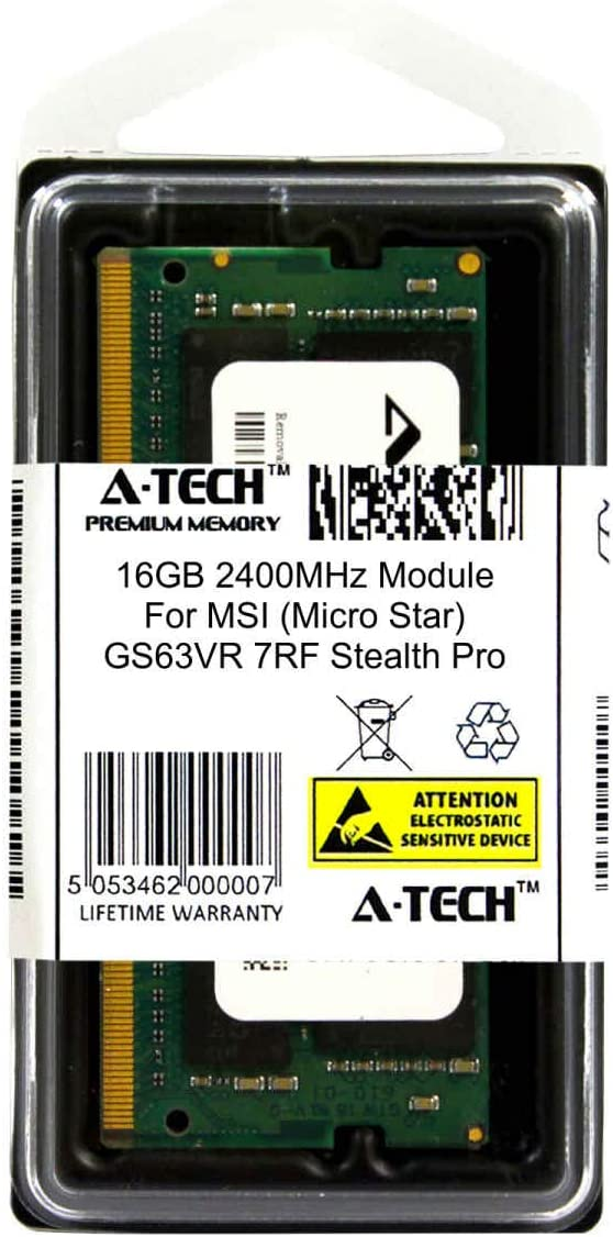 ATMS368061A25831X1 GS63VR 7RF Stealth Pro Laptop /& Notebook Compatible DDR4 2400Mhz Memory Ram Micro Star A-Tech 16GB Module for MSI