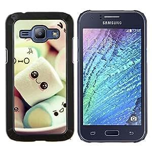 Dragon Case - FOR Samsung Galaxy J1 J100 J100H - cute Japanese marshmallow sweets - Caja protectora de pl??stico duro de la cubierta Dise?¡Ào Slim Fit