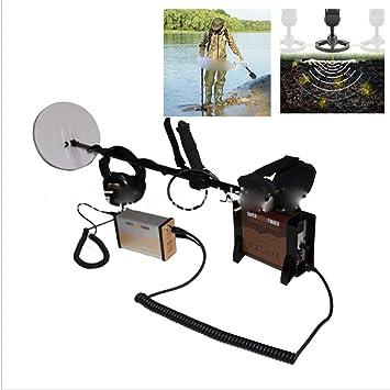 Kit de detector de metales Pantalla LCD de mano a prueba de agua Buscador de metales Tesoros que busca herramientas para niños y adultos que viajan con ...
