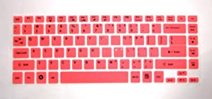 BingoBuy Semi-Pink Silicone Keyboard Protector Skin Cover for ACER Aspire E1-472, E1-472G, E1-472P, E1-470P, E14, E5-411, E5-471G, ES1-511, R7-571, R7-571G, R7-572, V3-472P, 4830, 4830T, AS4830T, 3830, 3830T, AS3830T series (if your