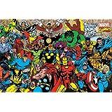 "Marvel - Retro Lineup 22""x34"" Art Print Poster"