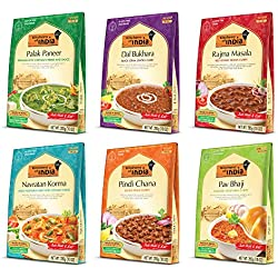 Kitchens of India Ready to Eat Dinner Variety Pack, 10-Ounces (Pack of 6)