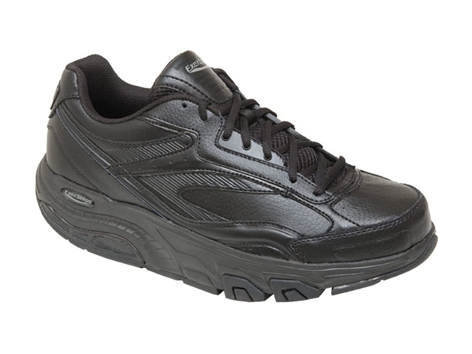 ExerSteps Men's Whirlwind Black Sneakers
