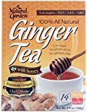 Natural Garden 100% All Natural Ginger Tea with Honey 14 Tea Sachets (Pack of 6)