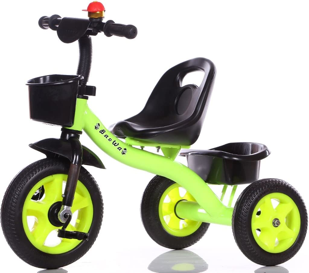 Triciclos para niños Bicicletas Ligero, simple, interior, exterior, 1-5 años, viejo, acero al carbono, verde, bicicleta