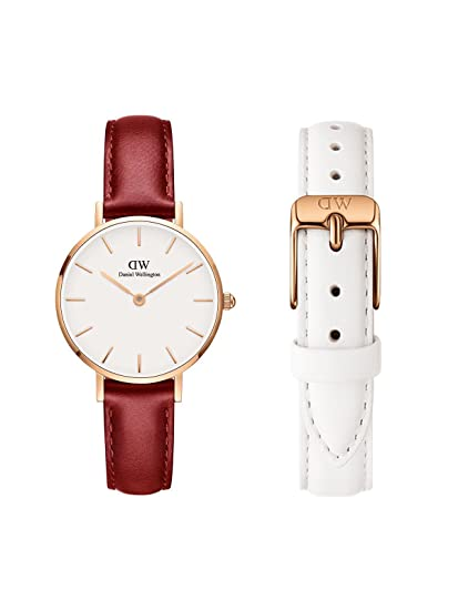 2c9c0f3da842 Buy Daniel Wellington Classic Petite Suffolk 28mm Rose Gold Plated Dial  Watch   12mm Bondi Strap. Watch   Strap Combo Online at Low Prices in India  ...