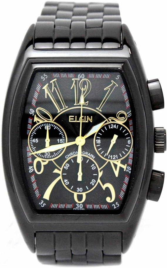 [エルジン] 腕時計 FK1215B-B メンズ ブラック