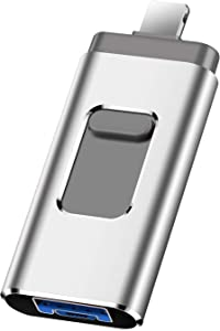 Flash Drive for Phone Photo Stick 1TB Memory Stick USB 3.0 Flash Drive Thumb Drive for Phone and Computers(1TB, Silver)
