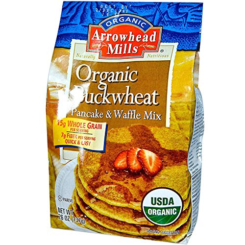 Arrowhead Mills, Organic Buckwheat Pancake and Waffle Mix, 26 oz (737 g)(PACK 1) (The Best Buckwheat Pancakes)