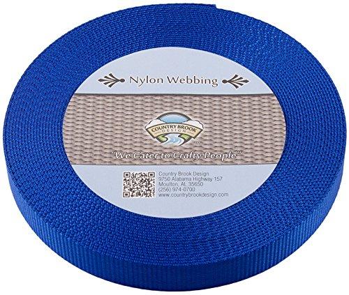 Country Brook Design 1 Inch Royal Blue Heavy Nylon Webbing, 10 Yards