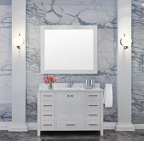DKB Beckford Series 43″ Inch Single Oval Sink Bathroom Vanity Set